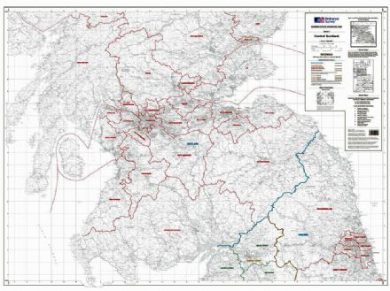 OS Administrative Boundary Map Local Government - Sheet 4 - Southern Scotland and Northumberland